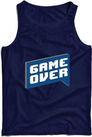 lepni.me Camisetas de Tirantes para Hombre Game Over, Camisa de Videojuegos de Regalo para un Jugador: Amazon.es: Ropa y accesorios