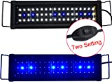 AquarienEco 1-6ft Aquarium Light for 42cm-60cm Cold Water Aquarium Tank LED Hood Lights Suitable for Goldfish, Tropical, Plants, Marine Fish and Other Aquatic Keeping