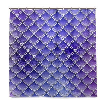 WBKCQB Unisex Purple Mermaid Shower Curtain Waterproof CurtainNatural And Comfortable72quot