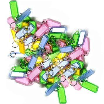 13ce1fe7f486fb THE GURU SHOP Assorted Key Tag Label Key Chain (Multi Colour,1000 Pcs):  Amazon.in: Bags, Wallets & Luggage
