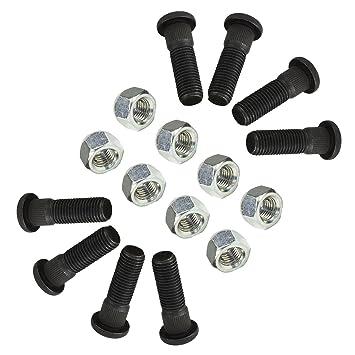 Pack de 8 M12 x 1,5 espárragos y tuercas de rueda de 100 mm PCD Cubos de remolque: Amazon.es: Coche y moto