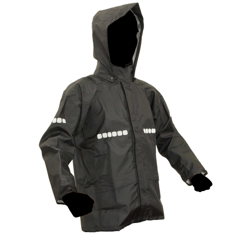アプトレインハイ ワーキングレインスーツ 全4色 全7サイズ 上下スーツ ブラック LL 3層レイヤー 収納袋付き 反射テープ付き AP-1000-BLK-LL [正規代理店品] B00SH08WJ6 LL LL