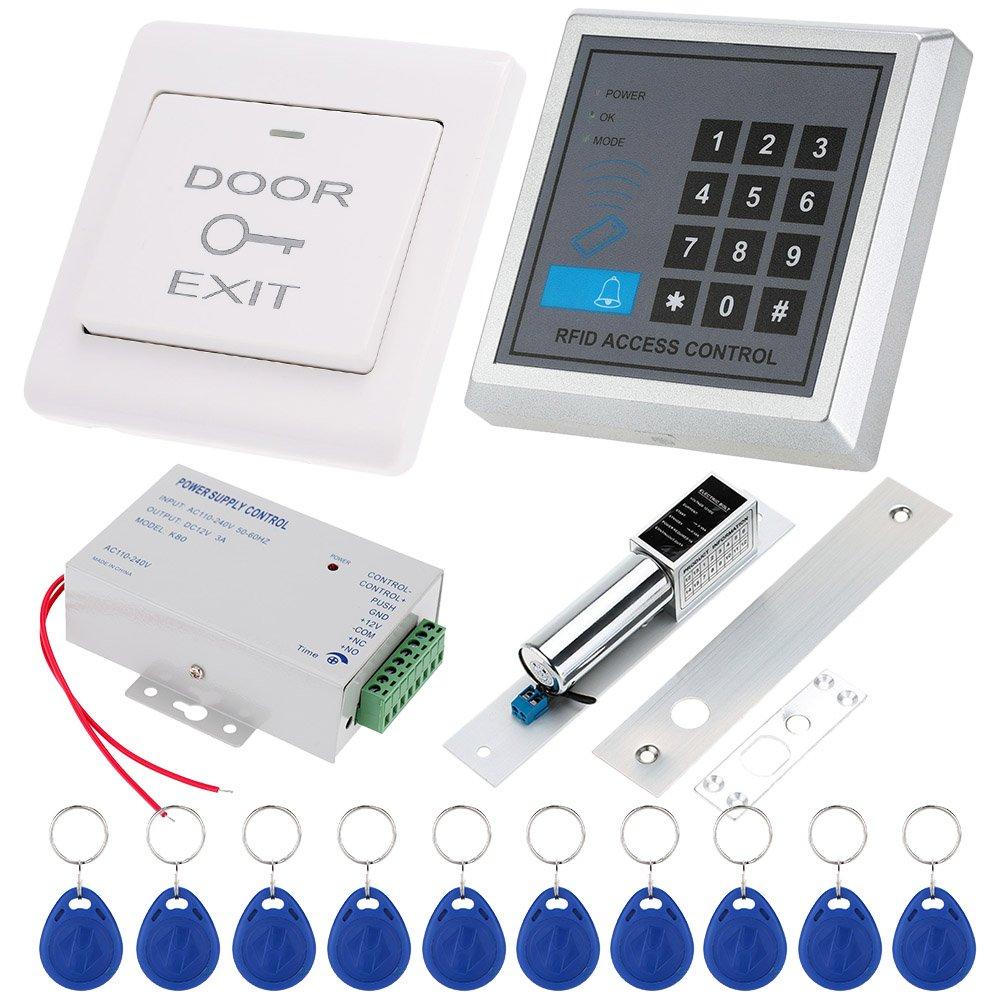 KKmoon RFID vicinanza ingresso serratura di porta sistema di controllo di accesso interruttore DC12/V Alimentazione Porta 10pcs 125/Khz tessere RFID blocco elettrico
