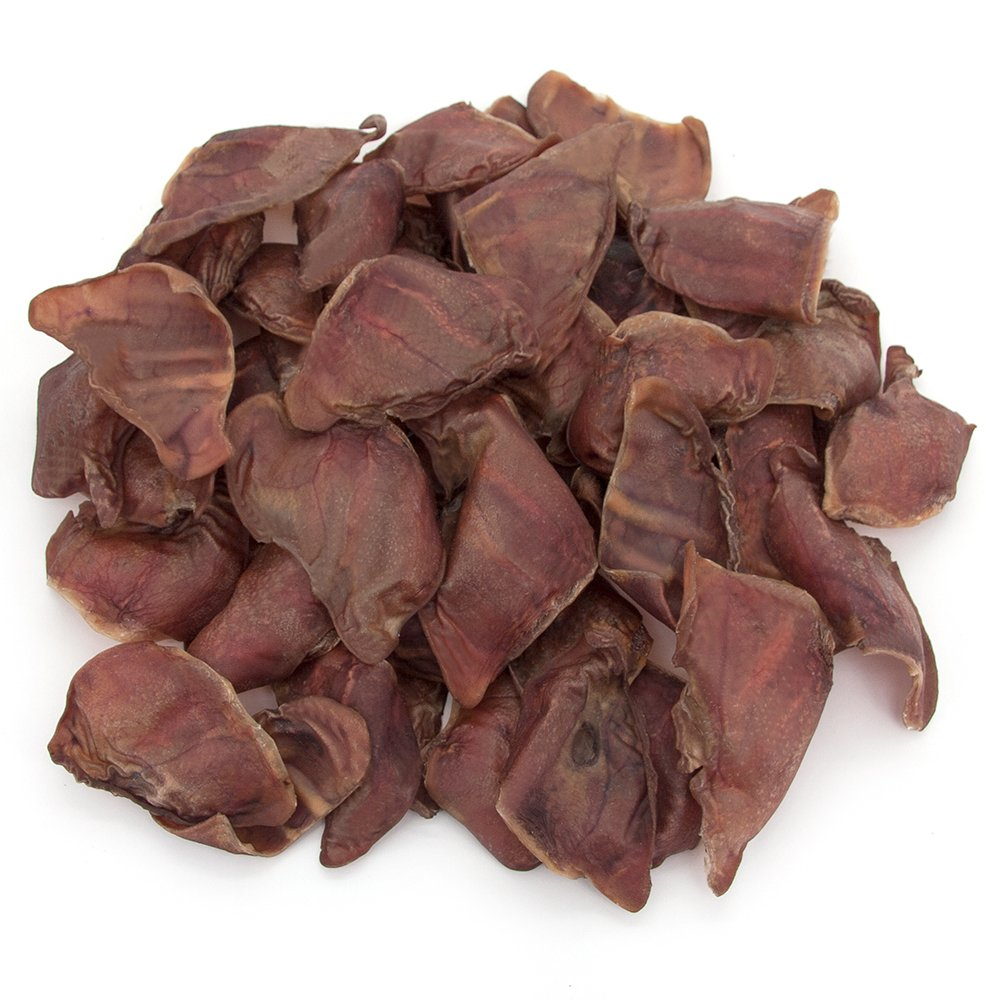 GigaBite All-Natural Full Pig Ears by Best Pet Supplies - Pack of 50