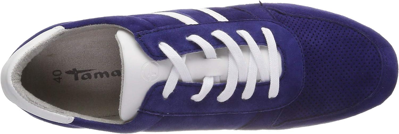 Tamaris 1-1-23749-22, Sneakers Basses Femme Bleu Navy Suede 806