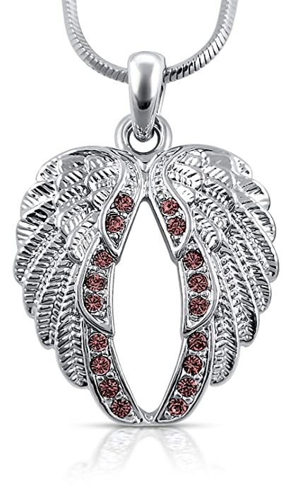 510eb9c55 Guardian Angel Wings Pendant Necklace Jewelry Gifts Girls, Teens and Women  (Purple)