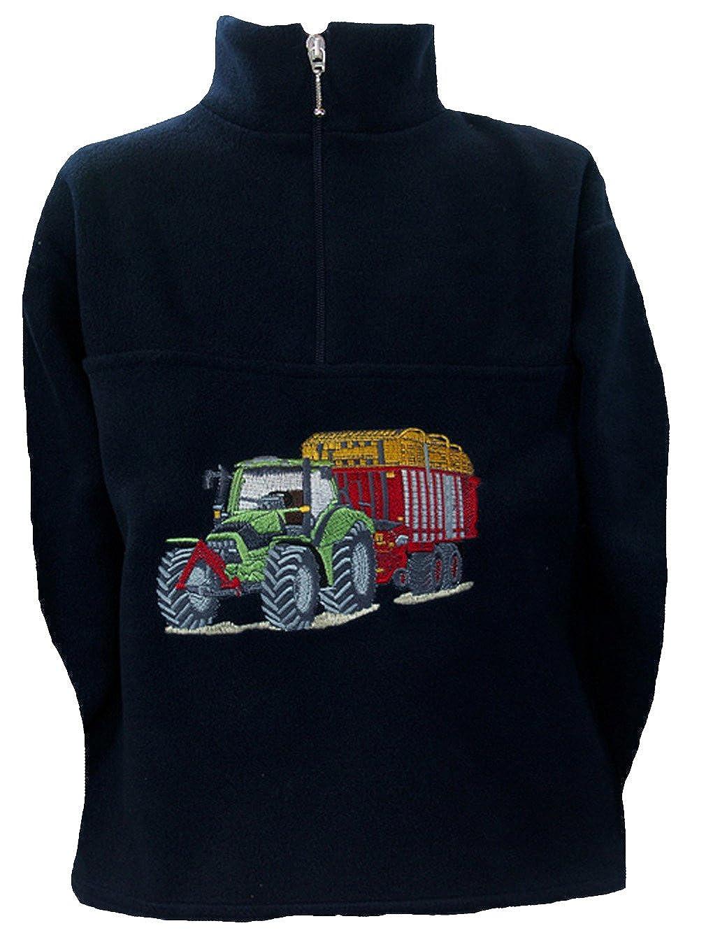 Zintgraf Fleece Troyer Pullover Stickerei Traktor Silagewagen F54