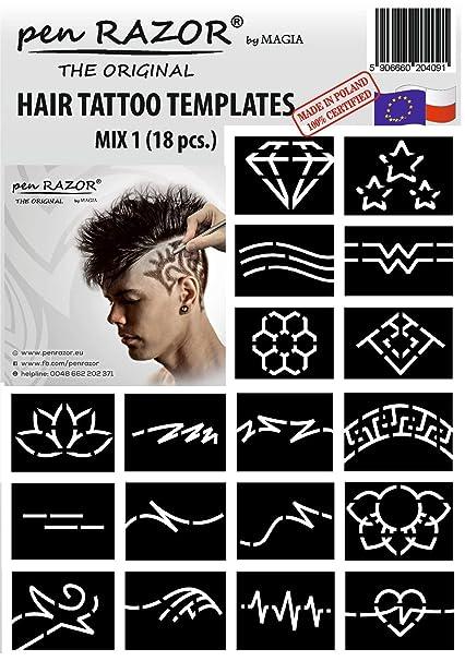 Magia - Plantillas de tatuaje para el cabello (18 unidades ...