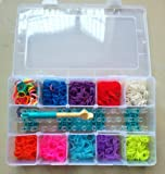 Loom Bandz Bracelet Kit & Clips with 2000 Bandz + 75 S-Clips + 1 Hook + 1 Loom Board