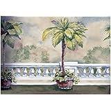 Palm Tree on Balcony Wallpaper Border 75966 BB