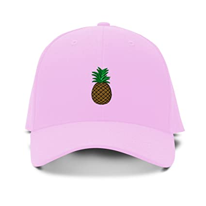 72ba714077f Speedy Pros Pineapple Embroidery Adjustable Structured Baseball Hat Soft  Pink
