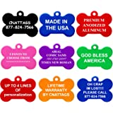 CNATTAGS Dog Tags Pet Tags personalized | 11 Shapes | 8 Colors | Premium Aluminum