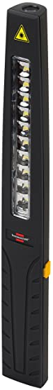 Brennenstuhl LED Taschenlampe mit Akku / Mini Stableuchte mit 10 hellen SMD-LED (3 Stunden Leuchtdauer, inkl Netzteil und Lad