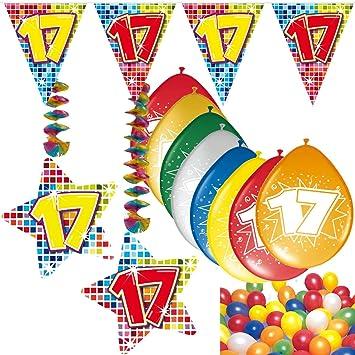 54 Set de decoración de fiesta Set * Número 17 * para ...