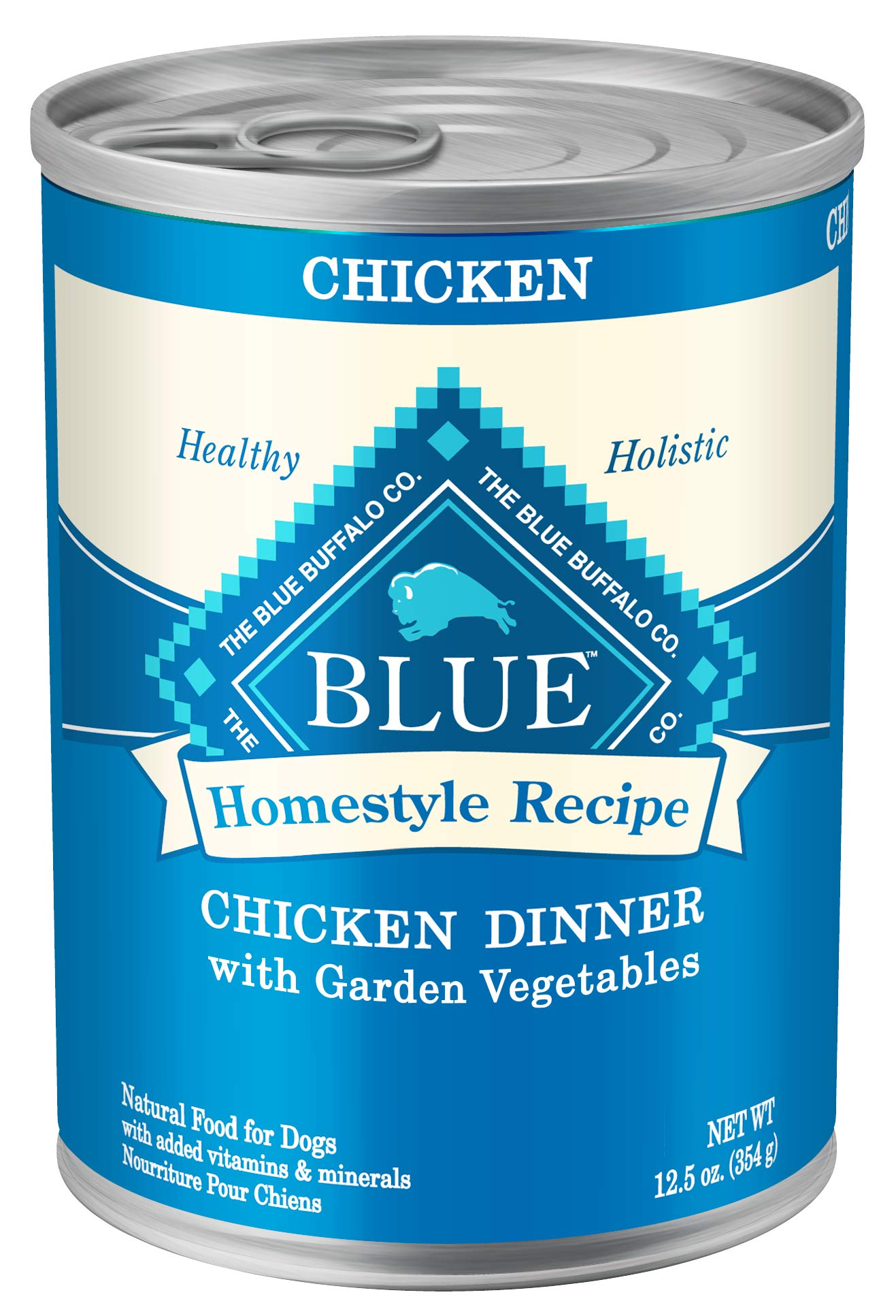 Blue Buffalo Homestyle Recipe Natural Adult Wet Dog Food, Chicken 12.5-oz can (Pack of 12) by Blue Buffalo