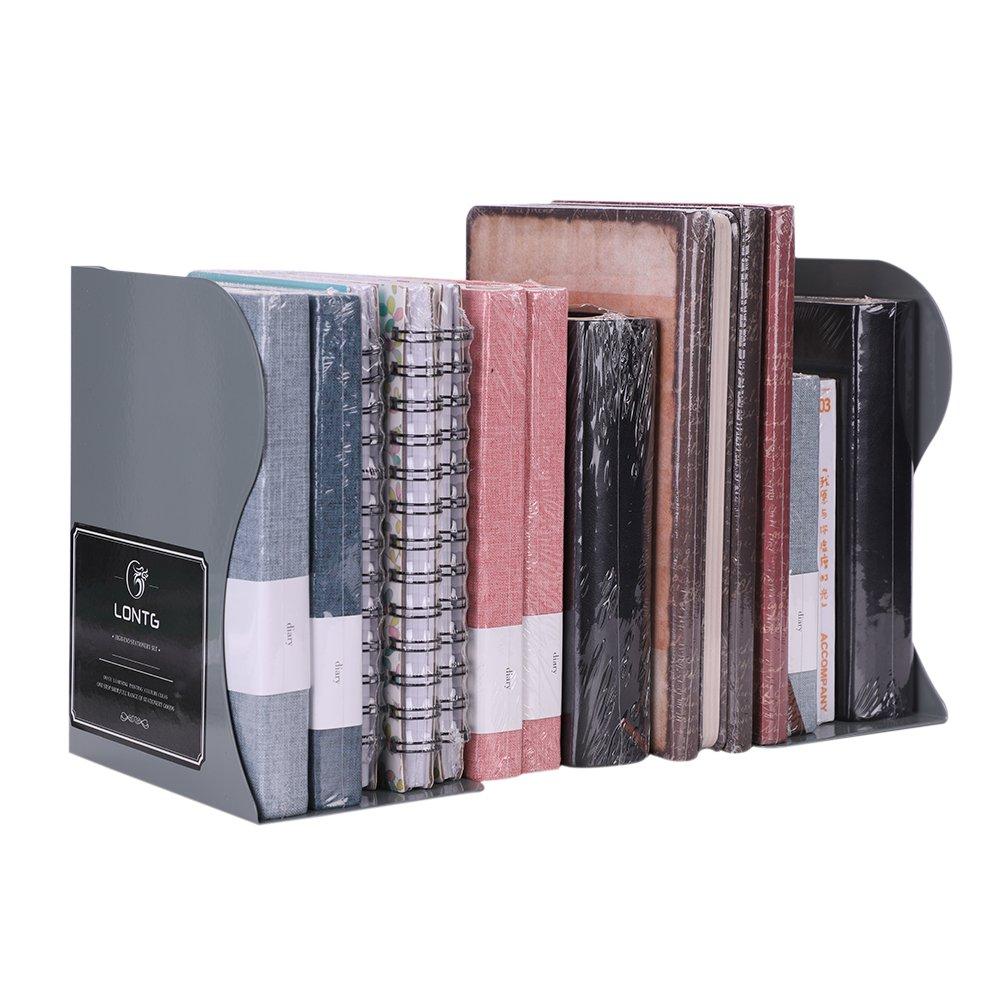 huecos extensible 1 sujetalibros de metal organizador de escritorio resistente blanco cremoso mediano soporte para libros para estudiantes separadores de documentos ajustable antideslizante