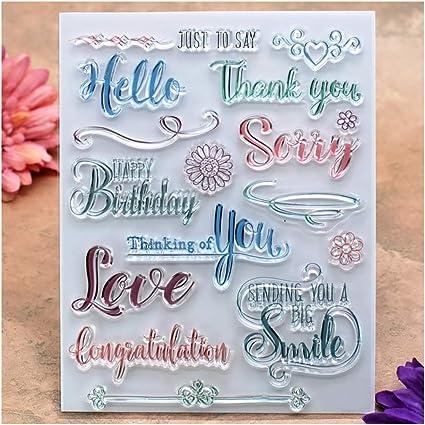Amazon.com: Kwan Crafts palabras de agradecimiento feliz ...