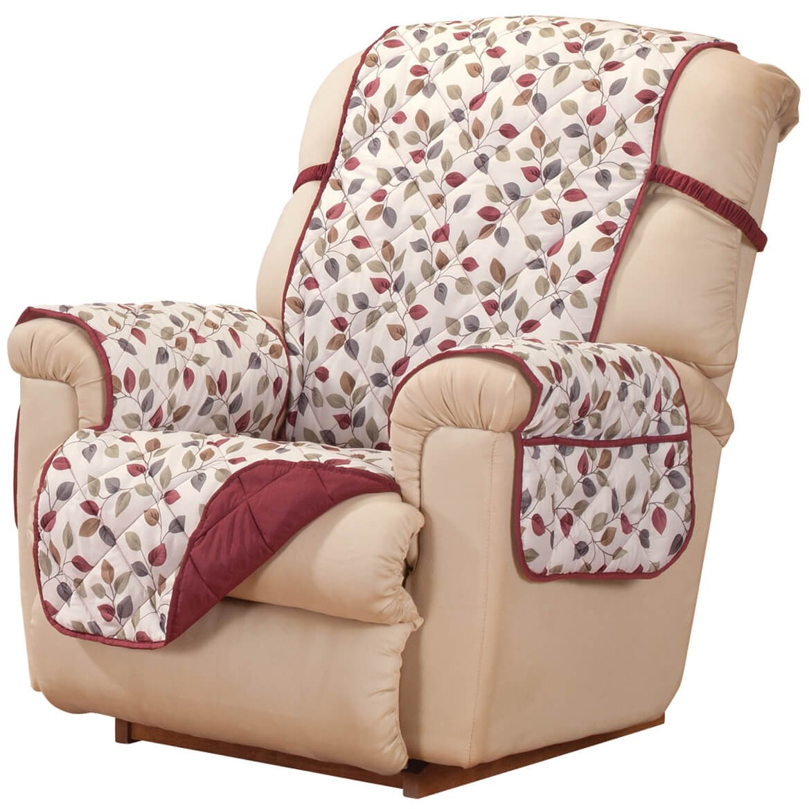 Innovative Textile Solutions Westerly Recliner Protector, Wine Jeffrey Home 849203027410