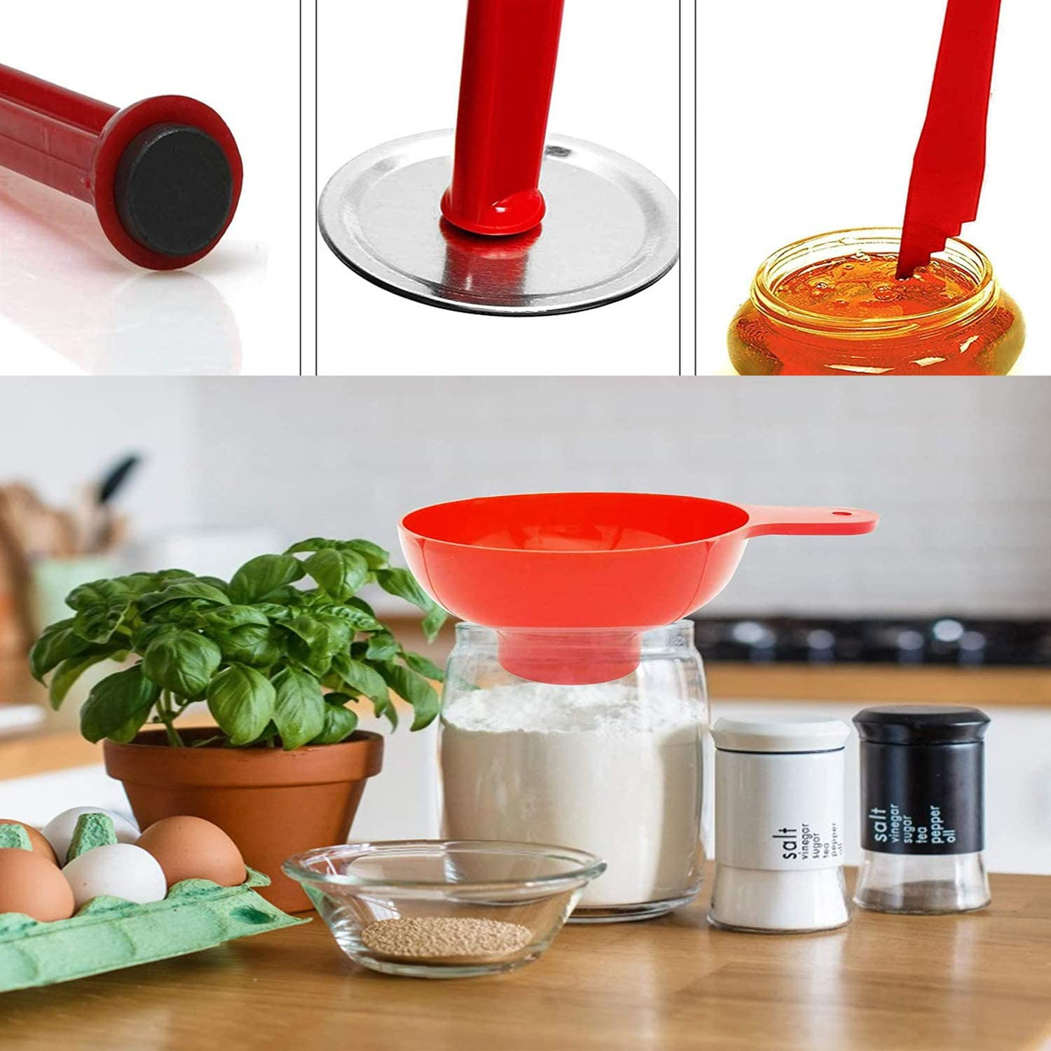 Red Kitchen Tool Anti-Scald Clip Suit Canning Kit Essentials Supplies 5 Pcs