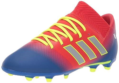 c77c407a39f5 adidas Boy's Nemeziz Messi 18.3 FG Athletic Shoes, Active Red/Silver  Metallic/Football