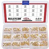10pF to 100nF 15Values Ceramic Capacitor Set, Hilitchi 525Pcs DIP Monolithic Multilayer Ceramic Chip Capacitors Assortment Kit