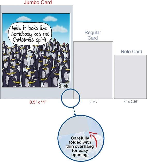 thou shalt we lack Farewell card XXL Jumbo DIN Motif Penguin