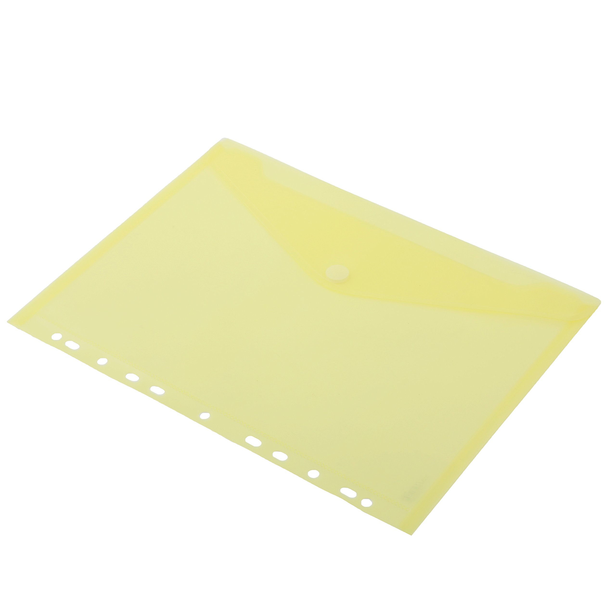 HF2 A4 Transparent Envelope Ring Binder with 11 Holes - Yellow