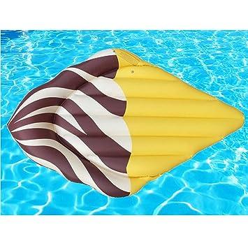 JYY Flotador Inflable De La Piscina Juguete del Flotador De La Piscina Al Aire Libre De La Forma del Helado con para Los Niños De Los Adultos,Brown: ...