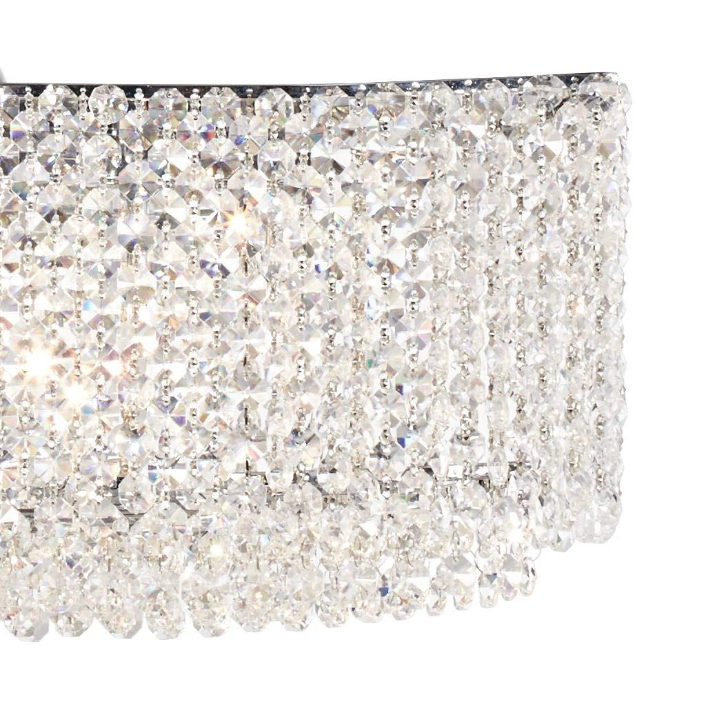 Adali Cruve 32 Wide Clear Crystal Linear Chandelier