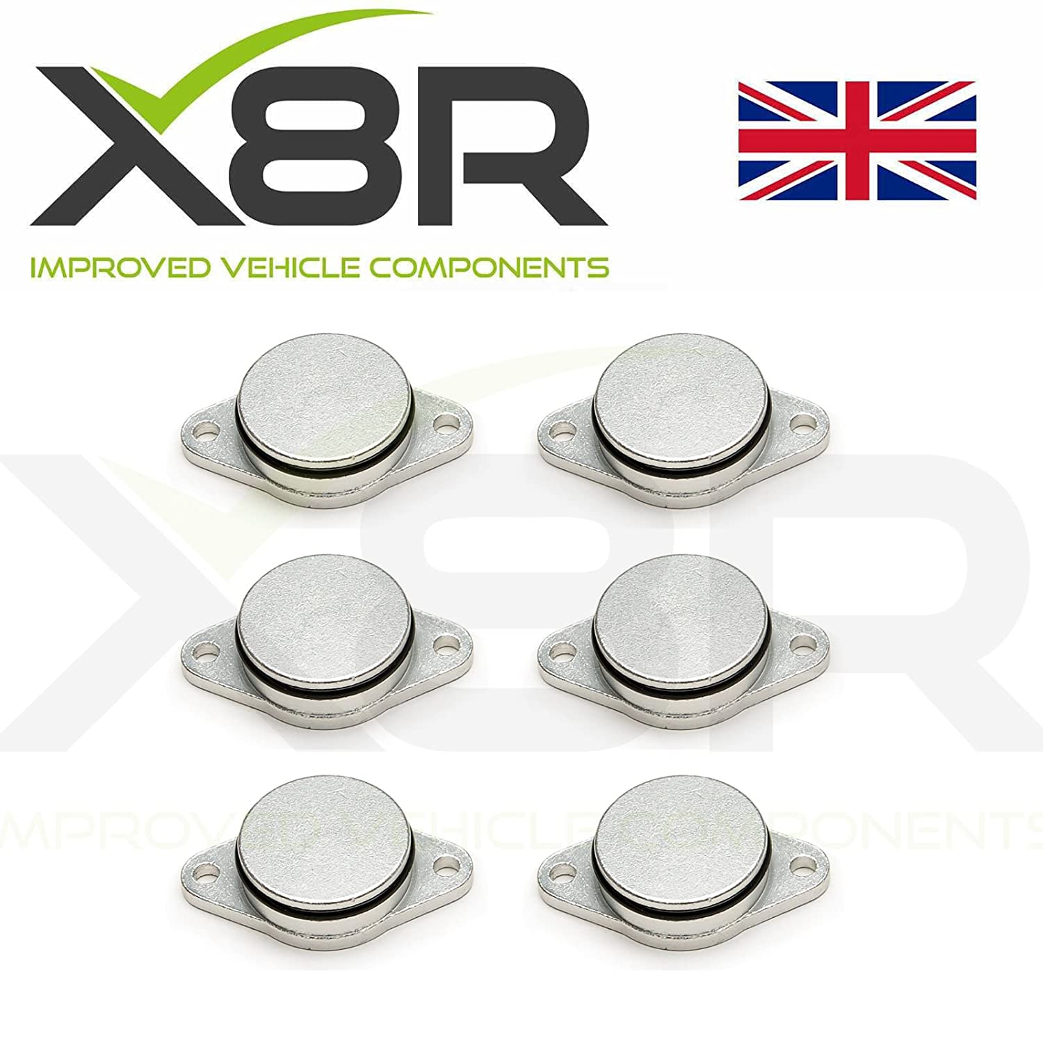 Swirl flap delete blanking plugs for diesel engines 6X 33mm X8R