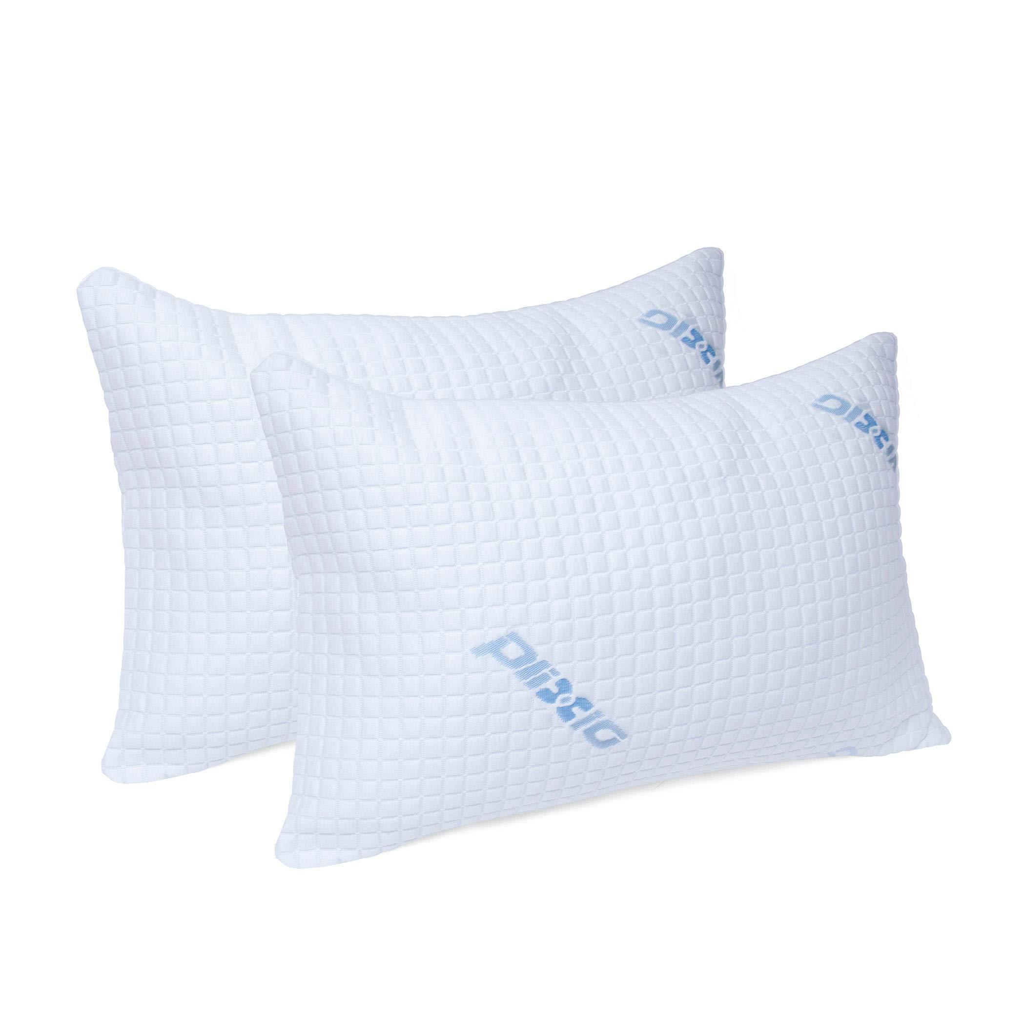 Plixio Deluxe Shredded Memory Foam Pillow 2 Pack Queen With