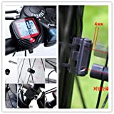 JSDOIN Bike Speedometer Waterproof Wireless Bicycle Bike Computer and Cycling Odometer with Automatic Wake-up Multi-Function LCD Backlight Display