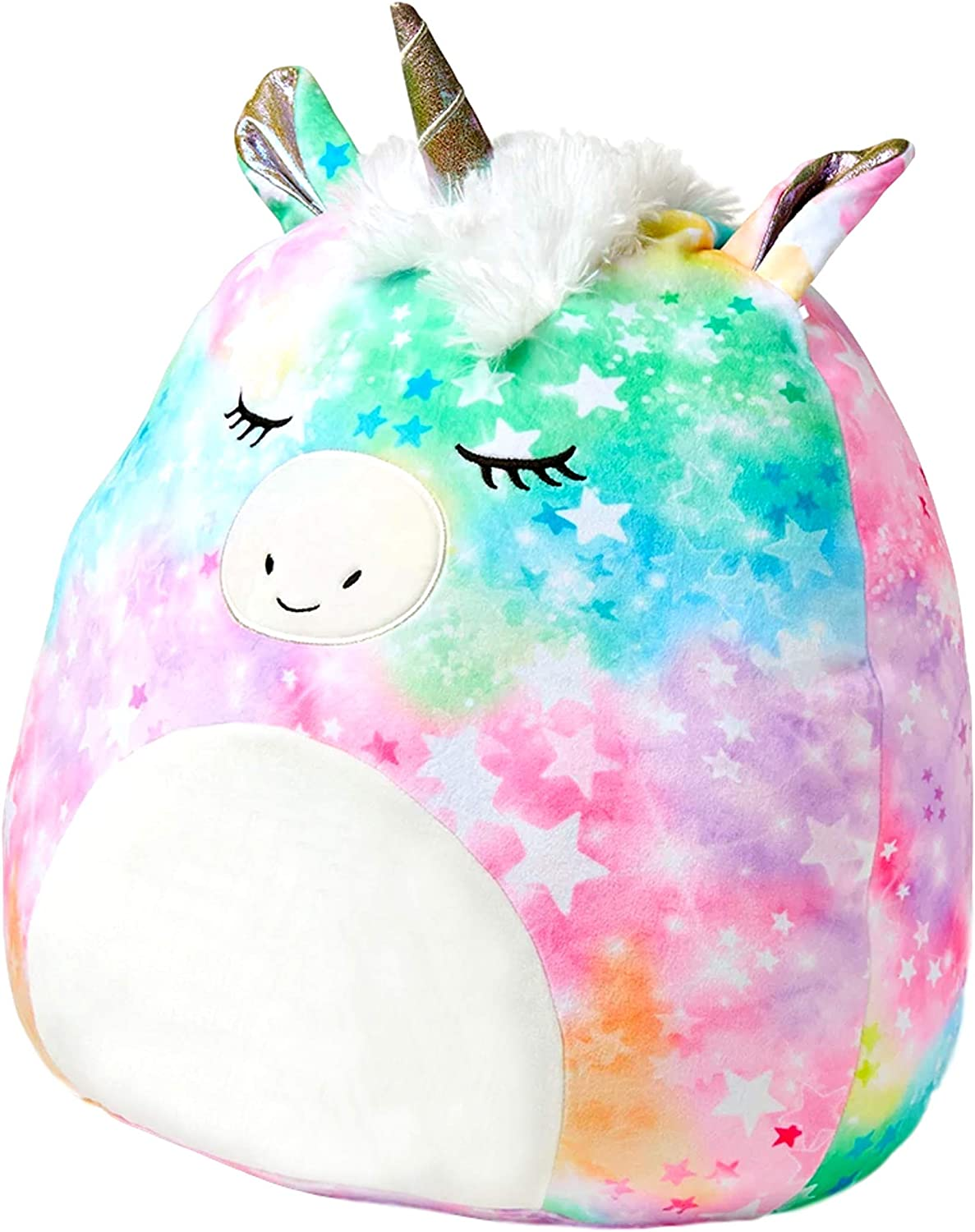 Justice for Girls Squishmallow Unicorn Pillow - Stuffed Animal Plush Pillow Large Size 20 Inch - Squishy Cuddle Pillow, Hug Pillow, Travel Pillow