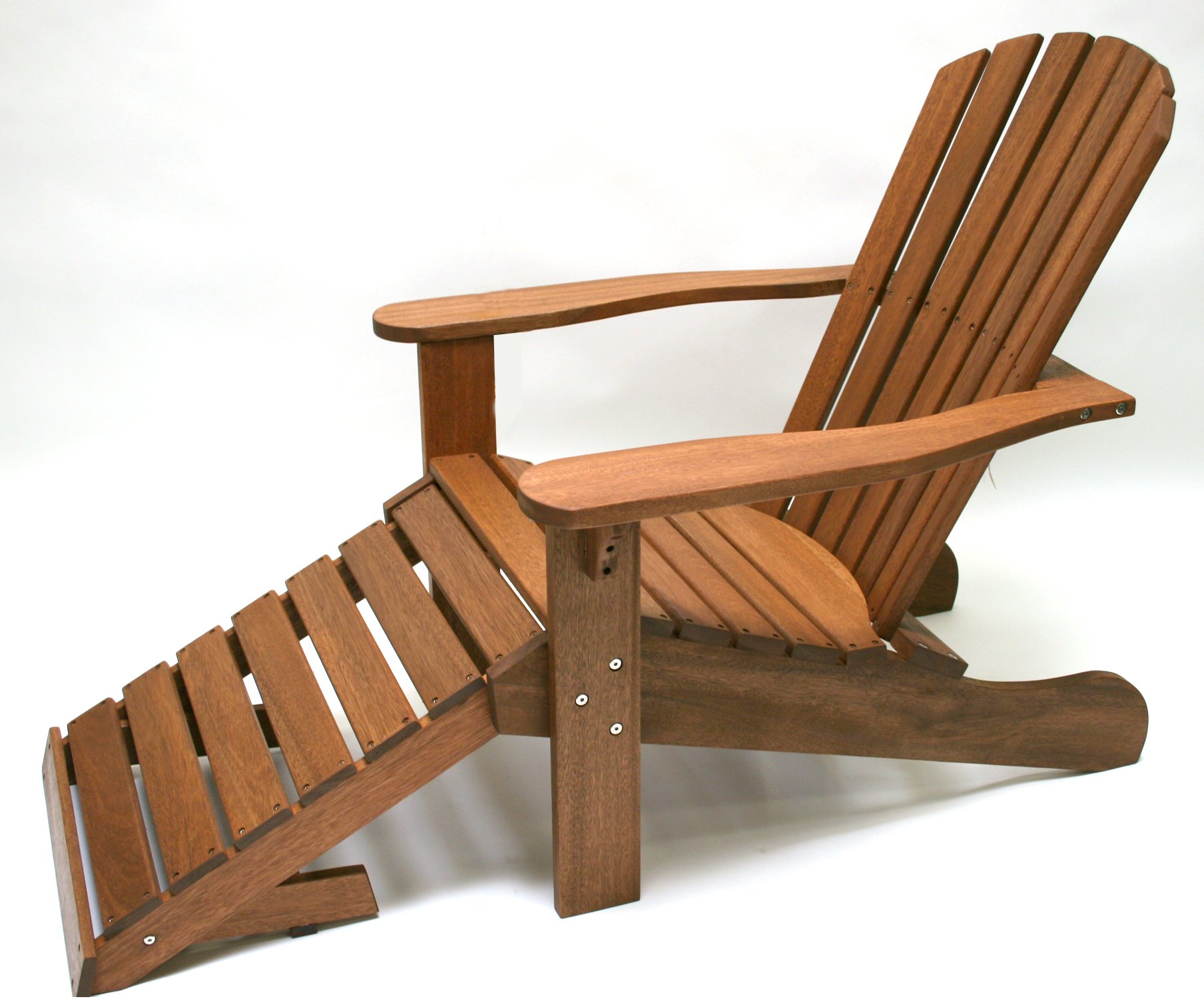 Outdoor Interiors CD3111 Eucalyptus Adirondack Chair and Built In Ottoman by Outdoor Interiors (Image #5)