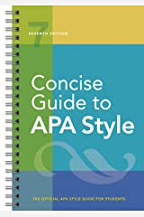 Concise Guide to APA Style: Seventh Edition (newest, copyright 2020) Spiral-bound