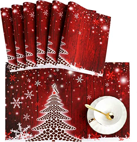 Country Kitchen Quilted Scrappy Christmas GINGERBREAD and SNOWFLAKES Snack Mats Hot Pads Table Mats