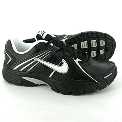 70fe572b655 NIKE Downshifter 3 Leather Mens Running Shoes 12 BK WT M.SL  Amazon ...