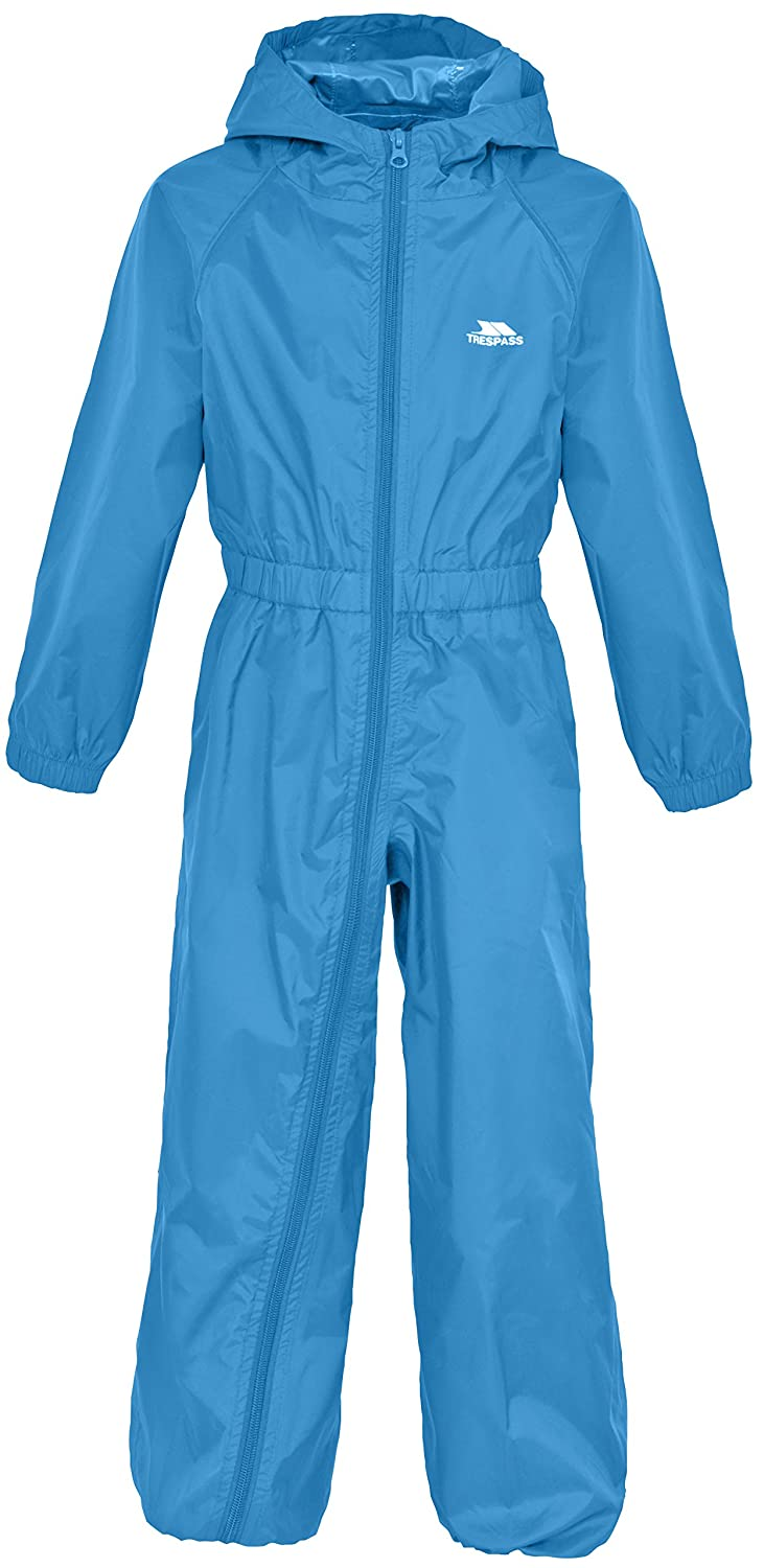 Trespass Waterproof Button Unisex Outdoor Hooded Rain Suit available in