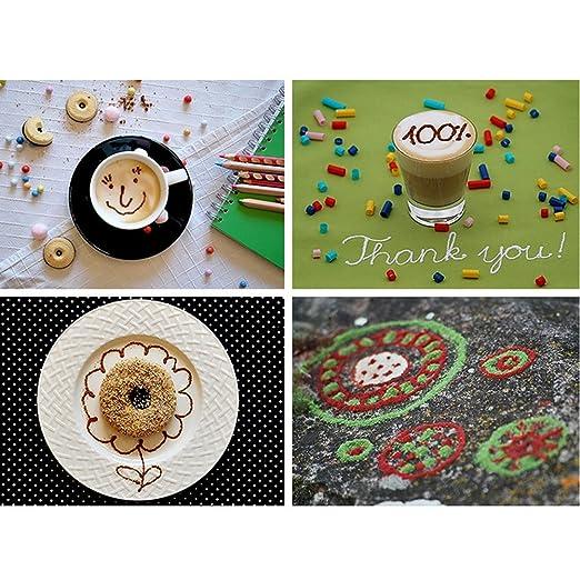 Café especias Pen,6.2 inch latte art pen bolígrafo de café eléctrico Art Pen para Latte & alimentos DIY, se puede utilizar con cinnomon, posos de café, ...