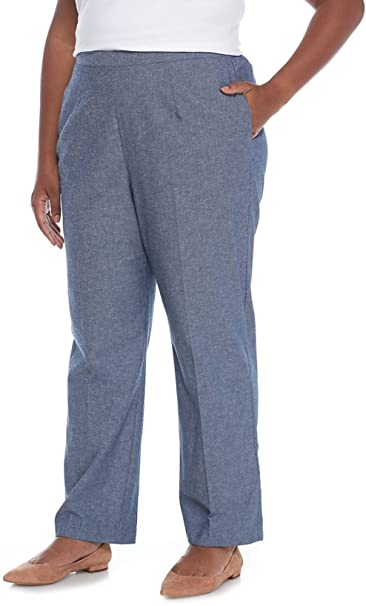 5a9c3b65370 Alfred Dunner Plus Size Classic Fit Pull-On Pant (Blue