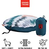 GRAND TRUNK Adjustable Travel Pillow Slate: Lightweight, Comfortable, Adjustable and Packable for Outdoor Adventures