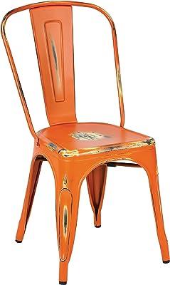 Work Smart/OSP Designs BRW29A4-AOR-osp Bristow Armless Chair, 4 Pack, Antique Orange