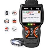 INNOVA 7100P Live Data Check Engine/SRS/ABS Scan Tool with Battery Registration/Oil Change Reset/Battery Alternator Test/Bluetooth with Free Pouch for BMW, Porsche, Mercedes, VW, Audi, All Cars
