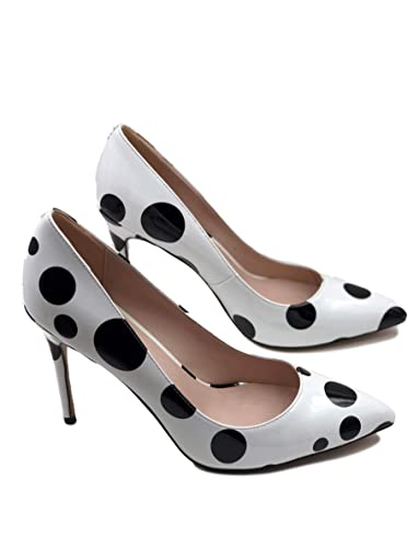 489430de37c41 Polka Dots High Heels Pointed Toe Women's Patent Leather Shoes
