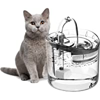 OZ PETS CHOSEN Cat Water Fountain, 1.8L Clear Automatic Water Dispenser for Pet Drinking Fountain, Dog Water Dispenser…