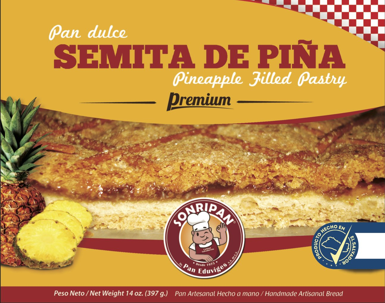 Pineapple Filled Pastry-Semita de Piña: Amazon.com: Grocery & Gourmet Food