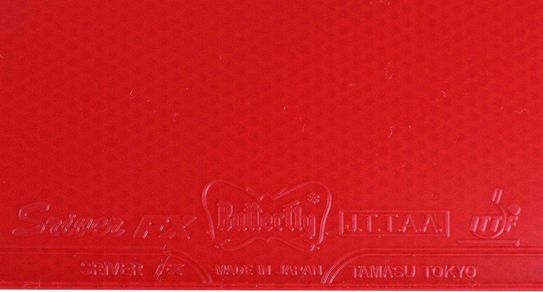 Tischtennis Belag Butterfly Sriver FX MAX Tischtennisbelag NEU im OVP rot