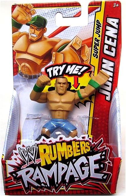 Amazon Com John Cena Green Jump Wwe Rumblers Rampage Mattel
