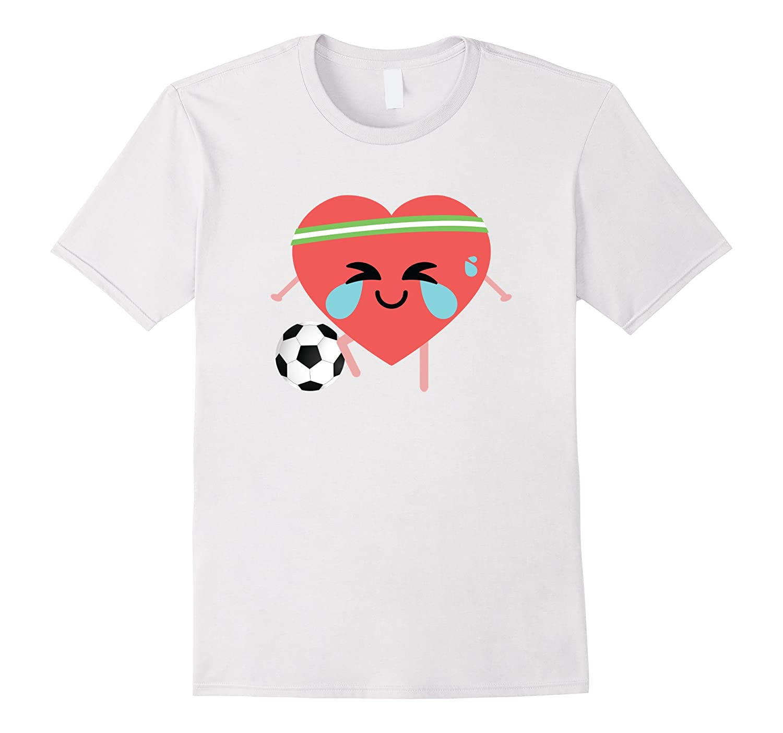 fa4036200 Soccer Heart Crying Emoji Shirt T-Shirt Football Tee – Hntee.com