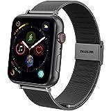 """Tfheey Brand Compatible para Correa Apple Watch 38mm 40mm 42mm 44mm, Pulsera de Repuesto de Acero Inoxidable Hebilla Metal Banda Correas para Apple Watch iWatch Series 4 3 2 1, 5.5""""-8.1"""""""